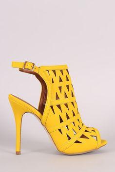 Zigzag Cutout Slingback Mule Heel – Style Lavish