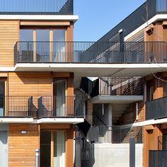 A Valenton dans le Val-de-Marne, les architectes Matthieu Gelin et David Lafon de l'agence Gelin-Lafon viennent de livrer le projet de 70 lo...