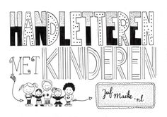 Handletting + with + children rnrnSource by suzannemeijer Kids Workshop, Improve Your Handwriting, Hand Lettering Tutorial, Hand Lettering Alphabet, Beautiful Lettering, Cool Writing, Kids Hands, Colorful Drawings, Creative Kids