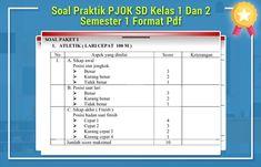 Soal Praktik PJOK SD Kelas 1 Dan 2 Semester 1 Format Pdf