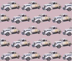 vintage car8 fabric by koalalady on Spoonflower - custom fabric