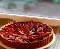 Ginger Plum Tart with Pistachio Crust | Beauty & the Feast