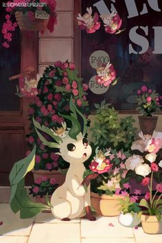 Leafeon is one with plants