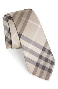BURBERRY 'Manston' CheckSilk Tie. #burberry #