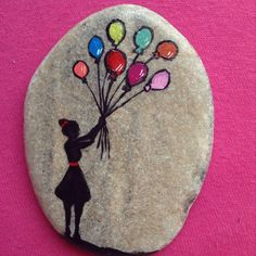 #taş #taşboyama #balon #renkli