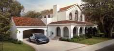 From article on Inhabitat website about Tesla product for solar roofing. No photo credit to be found, just Tesla. Solar Energy Panels, Solar Panels For Home, Best Solar Panels, Solar Energy System, Solar Power, Diy Solar, Roof Styles, House Styles, Solaire Diy