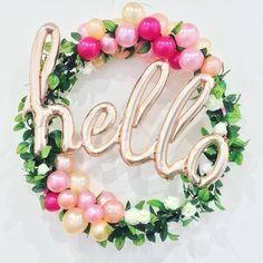 Organic Balloon Hoop (Hire only) #hello #rosegold
