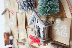 Casita nevada del calendario de adviento. Navidad 2013