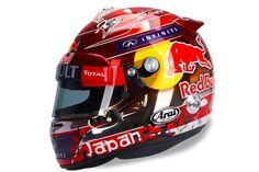 Sebastian Vettel's Japanese Grand Prix helmet