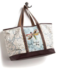 Look at this Sky Blue & Ivory 'Dream Big' Tote on #zulily today!
