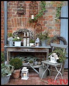 Garten Deko – Mannoman … What kind of weather is that …. , ordered – - All About Garden Garden Cottage, Garden Pots, Diy Garden, Shabby Chic Garden, Garden Sheds, Garden Deco, Bottle Garden, Outdoor Living, Outdoor Decor