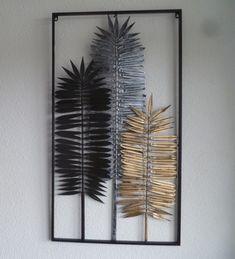 3D metalen muurdecoratie frame Yuma - Muurdecoratie Bomen - WANDDECORATIE METAAL | DEKOGIFTS