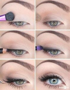 Eye Makeup Tips.Smokey Eye Makeup Tips - For a Catchy and Impressive Look How To Make Hair, Eye Make Up, All Things Beauty, Beauty Make Up, Pretty Makeup, Makeup Looks, Make Up Gesicht, Make Up Tricks, Skin Makeup