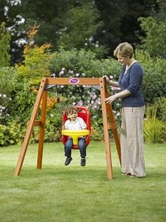 Plum Wooden Baby Swing Ideal Set For Young Toddlers To Enjoy Outdoor Play Time In