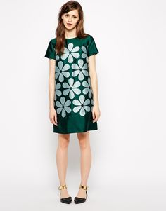 Orla Kiely Giant Snowdrop Sixties Shift Dress