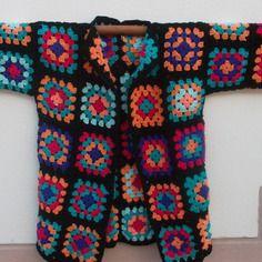 """""""acapulco"""" 3 veste au crochet granny multicolore"""