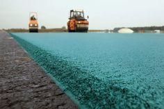 Blauw asfalt