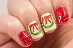 May contain traces of polish: Christmas Wreath Nails