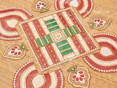 Transparent Sheet Kolams from Thugil online Rangoli Kolam Designs, Puja Room, Sheet Sizes, Center Table, Stickers, Flooring, Shapes, Table Decorations, Holiday Decor