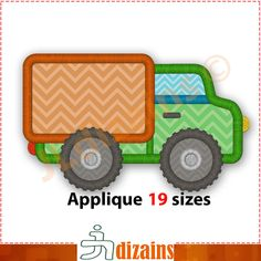 Moving Truck Applique Design. 19 sizes included. Machine embroidery design. Box truck applique. Truck applique design. Truck embroidery. BX by JLdizains on Etsy