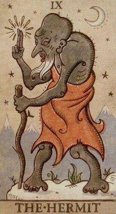 Trionfi della Luna Tarot The Hermit