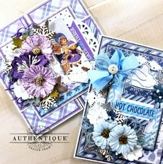 Shabby Chic Colors, Faux Snow, Pocket Scrapbooking, Flower Crafts, Altered Art, Cardmaking, New Baby Products, Christmas Cards, Decorative Boxes