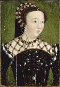 Catherine de Medicis, reine de France after Clouet (Châteaux de Versailles et de Trianon - Versailles, Île-de-France France) photo by Gérard Blot