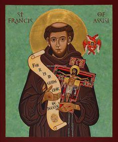 Saint Francis of Assisi ready to frame print, Catholic Art, Religious Images, Religious Icons, Religious Art, St Francis Assisi, Saint Francis, Image Icon, Holy Cross, San Francisco, Catholic Art