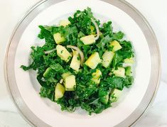 Pineapple-Avocado Salad with Kale & Red Onion