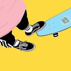 Vans old skool Aesthetic Pastel Wallpaper, Aesthetic Wallpapers, Tumblr Wallpaper, Cool Wallpaper, Wallpaper Animes, Hypebeast Wallpaper, Skate Art, Sneaker Art, Yellow Art