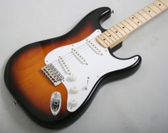 For 2014 only, Fender celebrates the diamond jubilee of the world's greatest electric guitar with the limited-edition 60th Anniversary American Vintage 1954 Stratocaster. £1732 #fender #1954 #stratocaster #sunburst #1950s