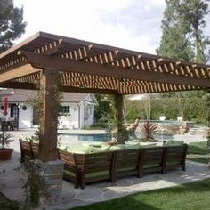 Patio Wood Roof Overhang Design, Pictures, Remodel, Decor And Ideas   Page 5