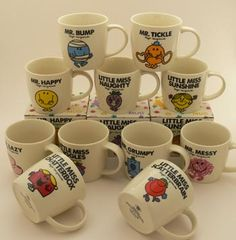 Mr Men and Little Miss Mugs. Which character best fits your personality? Paint one for yourself or for a friend!