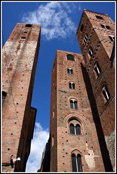 Medieval towers, Albenga, Liguria region, Italy, province of Savona