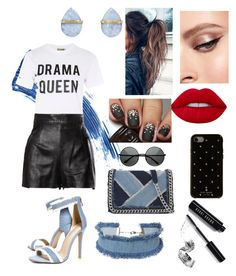 """Drama queen ⚫️"" by lerrianne on Polyvore featuring moda, Eyeko, Love, Moschino, Boohoo, DANNIJO, ALDO, Kate Spade, Lime Crime y Bobbi Brown Cosmetics"