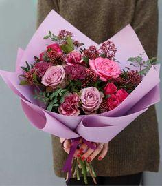 Флористика Beautiful Bouquet Of Flowers, Small Bouquet, Beautiful Flowers, How To Wrap Flowers, Faux Flowers, Diy Flowers, Hand Bouquet, Diy Bouquet, Edible Bouquets