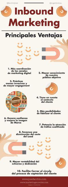 #Infografía #Emprendimiento Ventajas de Marketing Inbound