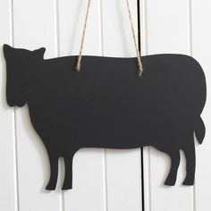 Chalk Board Cow Large - Use this board to write your shopping list and give your kitchen a warm country feel.