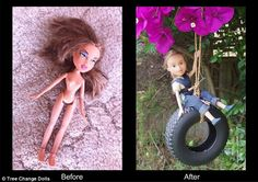 'I found this ex-Bratz doll at the Margate tip shop in Tassie,' Ms Singh wrote, 'She was d...
