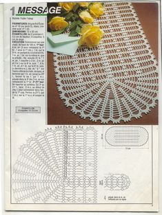 1000 Mailles № 131 — Yandex.View album on Yandex. Crochet Bookmark Pattern, Crochet Table Runner Pattern, Free Crochet Doily Patterns, Crochet Doily Diagram, Crochet Bookmarks, Filet Crochet, Crochet Doilies, Crochet Cord, Crochet Pillow