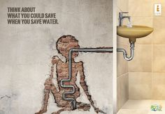 Think about what you could save when you save water – World water day « Creative Advertisements for NGO Street Marketing, Guerilla Marketing, Water Poster, Plakat Design, World Water Day, Great Ads, Creative Advertising, Social Advertising, Advertising Ideas