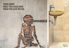 Pense sobre o que pode preservar quando economiza água.  Créditos: Al Ain Zoo e UN-Water World Water Day
