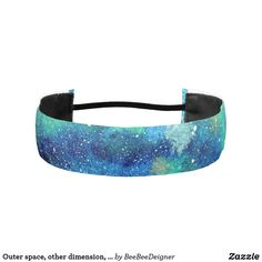 Shop Outer space, other dimension, same stars. athletic headband created by BeeBeeDeigner. Athletic Headbands, Elastic Headbands, Lost Stars, Watercolor Galaxy, Green Pattern, Outer Space, Grosgrain, Blue Green, Accessories