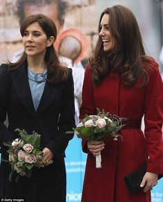 While they could easily pass as sisters, both Mary (left) and Kate (right) have built quite a friendship over the years when bumping into each other at official events