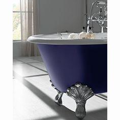Baths from Opulenza by Tubs and Loos Imperial Bathrooms, Double Ended Bath, Cast Iron Bath, Roll Top Bath, Clawfoot Bathtub, Color Schemes, Chrome, Contemporary, Baths