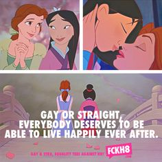 Will Disney ever give me a gay prince or lesbian princess? Disney Girls, Disney Art, Disney Pixar, Lgbt Love, Lesbian Love, Marie Curie, Lesbian Quotes, Pride Quotes, Bff Quotes