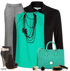 turquoise work outfit style fashion find more women fashion ideas on www. - My Style - Business Casual Outfits, Business Attire, Business Fashion, Corporate Outfits, Business Style, Business Formal, Casual Attire, Business Women, Style Work