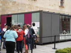 Commercial kiosk / steel / prefab / for public spaces SOUVENIRS