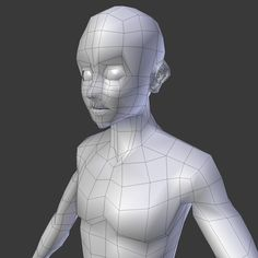 Subdivision Basemesh - Male. This royalty free 3D model or texture is available for download now! The best choice for character creation! For simple and...