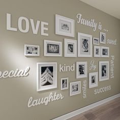 picture wall ideas Gallery wall prints quotes , gallery wall decor , gallery wall frames , gallery wall art set, gallery wall frames FRAMES NOT INCLUDED To view more Art that will look gorgeous on Your Walls Visit our Store: Family Wall Decor, Diy Wall Decor, Art Decor, Hallway Wall Decor, Wall Letters Decor, Frames Decor, Family Wall Quotes, Bedroom Wall, Family Wall Collage